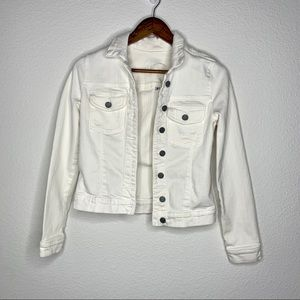 3/$30 Kut from the kloth white distressed jacket